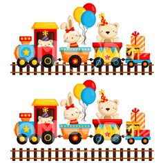 This Listing is for 22 design elements. This digital clipart set is perfect for use in greeting cards, scrapbooking, party invitations, decorations, and more! Train Clipart, School Cartoon, Balloon Shapes, Clipart Design, Carnival Themes, Art Birthday, Baby Art, Baby Prints, Birthday Decorations