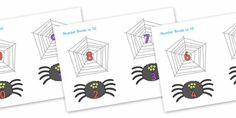 Twinkl Resources >> Number Bonds to 10 (on Spiders and Webs)  >> Classroom printables for Pre-School, Kindergarten, Primary School and beyond! Number Bonds, Matching Cards, Number Bonds to 10, Halloween, pumpkin , witch, bat, scary, black cat, mummy, grave stone, cauldron, broomstick, haunted house, potion, Hallowe'en, Halloween,