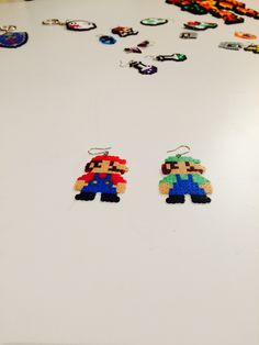 Simple earrings for a simple retro gamer! Mario and Luigi Retro Gamer, Mario And Luigi, Simple Earrings, The Creator, Trending Outfits, Unique Jewelry, Handmade Gifts, Vintage, Kid Craft Gifts