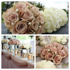 33 Ideas Wedding Colors Vintage Bridesmaid Bouquets For 2019 Bridal Bouquet Pink, Bridesmaid Flowers, Bride Bouquets, Bridal Flowers, Rose Wedding, Floral Wedding, Dream Wedding, Wedding Dress, Wedding Themes