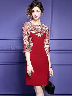 View Luxury Embroidered Bodycon Velvet Wedding Guest Dress For Fall Weddings that are unique for weddings at GemGrace. Shop high-end wedding guest dresses at cheap price online. Mode Batik, Bodycon Dress With Sleeves, Blue Bridesmaid Dresses, Women's Fashion Dresses, Dress Patterns, Designer Dresses, Beautiful Dresses, Evening Dresses, Party Dress