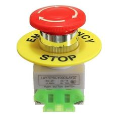 Emergency Stop Push Button Switch NO NC Self Locking Red Mushroom Cap 660V 10A. Emergency Stop Push Button Switch No Nc Self Locking Red Mushroom Cap 660v 10a   specification:    100% Brand New!!!  main Material: Plastic  button Color : Red  operating Voltage: 660v  operating Current: 10a  action Type: Self Locking  contact Type: 1 No (normally Open) 1 Nc (normally Closed)  button Diameter : 40mm / 1.57'  fit Panel Thickness : Max 4mm / 0.16'  mount Hole Diameter : 22mm…