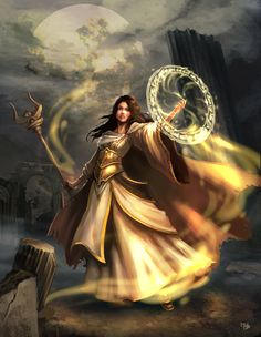 The most obvious elemental trait of a light mage is the ability to produce a luminescent golden light that does not harm through producing heat - such as a fire mage can - but can temporarily blind and disorientates opponents.