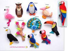 BIRDS Felt Magnets Price per 1 item make your own set
