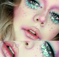 The fabulous @dixiewolf using our pink mermaid pack to create this look  #mermaid #glitter #festivalmakeup