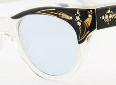 Womens Vintage Eyeglasses Black Sunglasses Eyeglass Frames Rhinestone Cateye