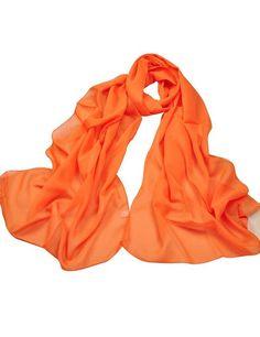 Le donne sciarpa protezione solare sciarpa Chiffon Loop WJ38 Rot Orange Taglia unica