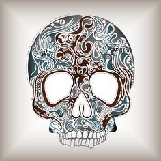 Skull Art - I think I need to try this!!  But in my Graffiti style  <3