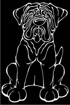 Dogue De Bordeaux Decal Dog