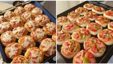 Kahvaltılık Mini Pizzalar Brunch Party, Potato Salad, Cauliflower, Yogurt, Sushi, Food And Drink, Pizza, Healthy Recipes, Cookies