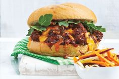 Lazy Cheeseburgers With Carrot Slaw
