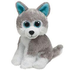 Ty Stuffed Animals Big Eyes | TY Beanie Baby - SLEDDER the Husky Dog (Big Eye Version) (6 inch)