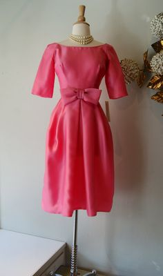 1960s Dress // Vintage 60s Pretty In Pink Dress by xtabayvintage, $198.00