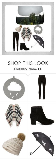 """rainy day"" by adelisa56 ❤ liked on Polyvore featuring rag & bone, Burberry, Steve Madden, SOREL and Polaroid"