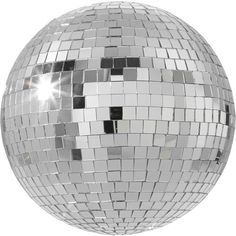 """CB2 Disco Ball 8"""" (80 RON) ❤ liked on Polyvore featuring home, home decor, glass centerpieces, cb2, glass home decor and disco ball centerpiece"""