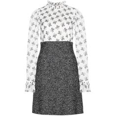 Dolce & Gabbana Silk and Wool-Blend Dress (28 365 UAH) ❤ liked on Polyvore featuring dresses, kohl dresses, dolce&gabbana, silk dress, black dress and dolce gabbana dresses
