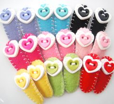 Felt and Hearts polymer clay hair snap clips Pick by digitsdesigns, $10.00
