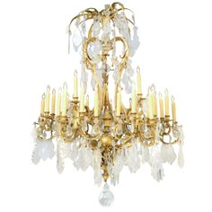 Fine 36 Light Gilt Bronze Brighton Pavilion Style Chandelier from Palm Beach Ritz Carlton   From a unique collection of antique and modern chandeliers and pendants  at http://www.1stdibs.com/furniture/lighting/chandeliers-pendant-lights/