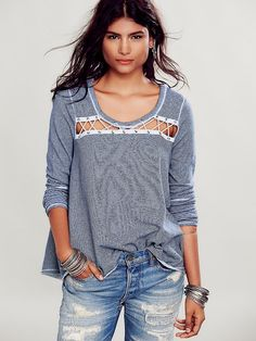 Free People Criss Cross Pullover, $88.00