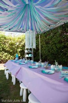 Pastel Mermaid Themed Birthday Party by indy