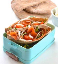 Smoked Salmon Pita Sandwiches