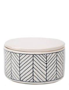 Herringbone Salt Cellar by Ceramicist Elizabeth Benotti // Leif Shop