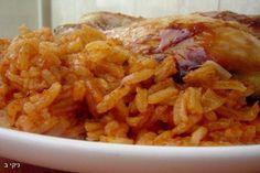 עוף על מצע אורז אדום, תבשיל מעולה! שווה להכין.