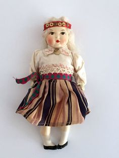 Vintage composite doll  Small by vintagewall on Etsy