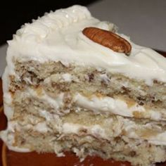 Italian Cream Cake Recipe from Grandmothers Kitchen. Southern Desserts, Just Desserts, Delicious Desserts, Dessert Recipes, Yummy Food, Cake Cookies, Cupcake Cakes, Cupcakes, Italian Cream Cakes