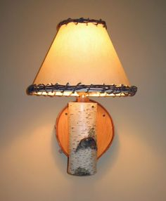 How to make a rustic lamp tutorial