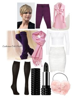 """""""Snow rose Lalonde"""" by abbitsachan ❤ liked on Polyvore featuring Jeane Blush, Kat Von D, Boohoo, AtStyle247 and Charlotte Russe"""