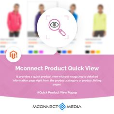 Let your quick & regular #Shoppers 👨💻 preview the product information and directly #AddtoCart 🛒 from the category page using the #ProductQuickView Extension for #Magento2.🚀 Download now: Product Information, User Experience, Pop Up, Extensions, Ads, Let It Be, Reading, Popup, Reading Books