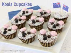 A Spoonful of Sugar: Koala Cupcakes Aussie Food, Australian Food, Australia Day Celebrations, Childrens Baking, Sweet Recipes, Snack Recipes, Cooking Recipes, Beach Ball Cake, Animal Cupcakes