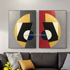 Online Shop Canvas painting cuadros decoracion qudros abstract color acrylic red painting Wall art wall Pictures for living room home decor Art Mur, Wall Art, Cubism Art, Cheap Paintings, Art Paintings, Watercolor Artists, Geometric Art, Art Auction, Pattern Art
