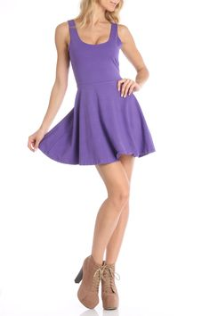 S.H.E. Fit Flare Dress in Grape - Beyond the Rack