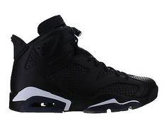 Mens Air Jordan Retro 6 VI Black Cat Black White 384664-020