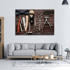 Lifestyle Barbershop Multi Panel Canvas Wall Art By ElephantStock Will  Complement Any Type Of Room And Become An Amazing Focal Point.