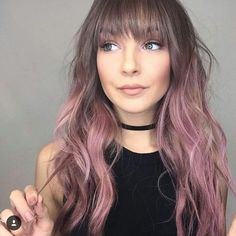 bangs, color, and hair image