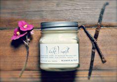 Violet Vanilla  Mason Jar Candle  Valentine's Day  by MasonandWax #masonjarcandle #candle #soycandle #violetcandle #violet