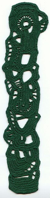 Green freeform crochet