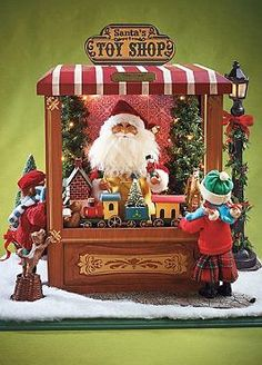 Perfect for an accent table or atop your mantle the Magic of Christmas - Santa's Toy Shop is a captivating holiday scene that is sure to bring cheer to your home.