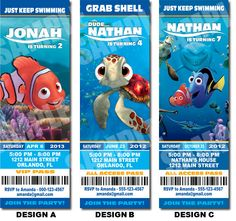 Finding Nemo party invitations