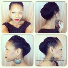 Gorgeous roll, pin & tuck with flat twists
