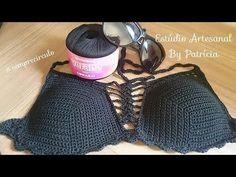 Joanne Archambault shared a video Crochet Bikini Pattern, Swimsuit Pattern, Crochet Bikini Top, Crochet Shirt, Crochet Lace, Crochet Stitches, Crochet Lingerie, Bikinis Crochet, Crochet Phone Cover
