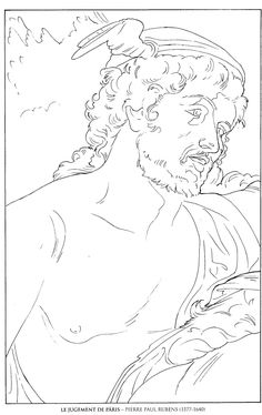 le jugement de paris_pierre paul rubens famous paintings coloring pages