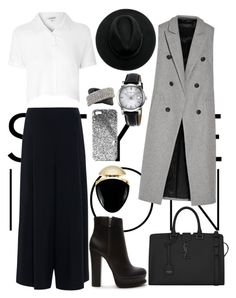 """""""Untitled #197"""" by fradoria ❤ liked on Polyvore featuring Forever 21, rag & bone, Yves Saint Laurent, Glamorous, The Row, Mark Broumand, Burberry, Bulgari and Topshop"""