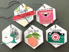 Valentine Tags by Danielle Flanders for Papertrey Ink (December 2015)