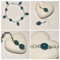 Hey, I found this really awesome Etsy listing at https://www.etsy.com/uk/listing/559238921/teal-necklace-jewellery-set-matching