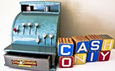 .....Playing store with a similar cash register and all of the empty boxes and cans we could convince Mom to save.