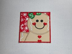 Your place to buy and sell all things handmade Christmas Clothes, Iron On Applique, Machine Embroidery, Gingerbread, All Things, Free Shipping, Fabric, Handmade, Stuff To Buy